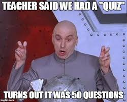 Quiz Meme - dr evil laser meme imgflip
