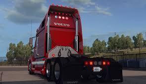red volvo truck volvo vnl 670 truck v 1 2 by aradeth american truck simulator