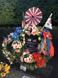 wreath placed for memorial day picture of korean war veterans