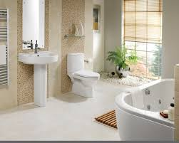 clean welcoming bathroom design with the window blinds and white