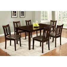 7 Piece Dining Room Set by Steve Silver 7 Piece Marseille Marble Top Dining Table Set Dark