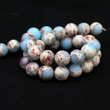diy necklace wholesale images Wholesale synthesis snakeskin blue stone jasper beads for jewelry jpg