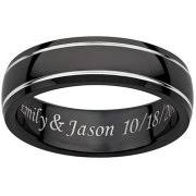 promise rings for men personalized men s inside and top engraved spinner ring in black