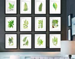 green wall decor fern wall print etsy