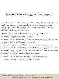 retail store resume sample retail store manager resume sample