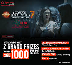 halloween horror nights ticket says how would you like to win 2 universal studios facebook