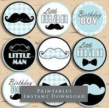 mustache party printable birthday cupcake toppers mustache party
