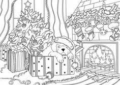 free christmas coloring pages holiday season