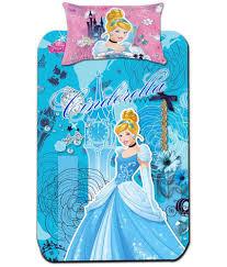 disney princess multi colour cartoon prints single bedsheet