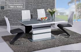 White Gloss Extendable Dining Table Arctic Grey Glass And White Gloss Extending Dining Table 160cm