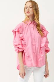 ruffle blouses annelle pink ruffle blouse discover the fashion trends