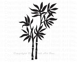 bamboo plant vinyl wall decal