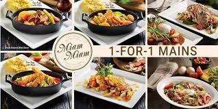 miam miam cuisine miam miam 1 for 1 dining deals sgd tips