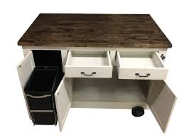 Kitchen Island Trash by Farmhouse Industrial Kitchen Island With Handy Roll Out Trash