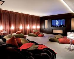 home theater sofa movie room couch bed diy movie room ideas home theater rustic