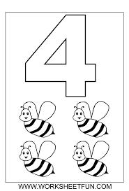 free worksheets for kindergarten number 4 free worksheets for