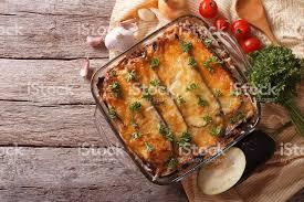 cuisine grecque moussaka photo de une moussaka grecque à plaque plat avec la grande fraîcheur