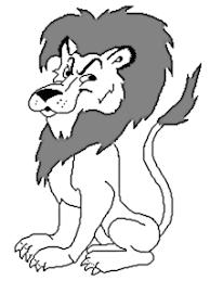 black white lion clipart u2013 101 clip art