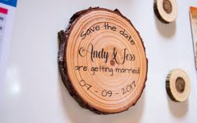 save the date magnets wood slice save the date magnets