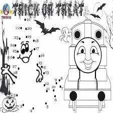 thomas train halloween worksheets kids kids enjoy
