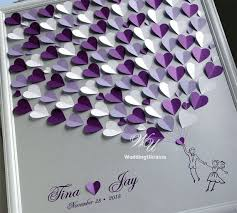 alternative guest book ideas wedding guest book ideas silver and purple weddings tree