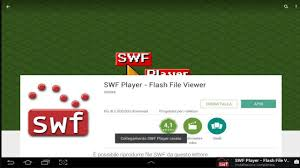 swf player for android aprire file swf su android