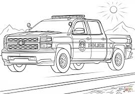 coloring pages coloring pages truck police coloring pages