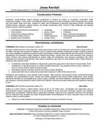 Mergers And Inquisitions Resume Template Resumes For Excavators Resume Samples Construction Resumes