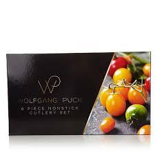 wolfgang puck bistro elite 6 piece nonstick cutlery 8303999 hsn