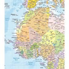 World Map Mural Wall Blue World Map Atlas Wallpaper Mural 1 58m X 2 32m
