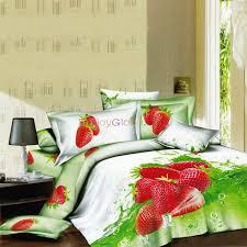 fruit strawberry print cotton bedding sets enjoyglobe com u0027s