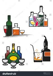 alcohol drinks symbols elements set bar stock vector 136831001