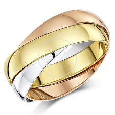 russian wedding band 9ct russian wedding ring multi tone 3 colour gold band brand new
