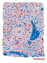 Germany City Map by Hamburg City Map Illustrated Illustrazioni Pinterest City
