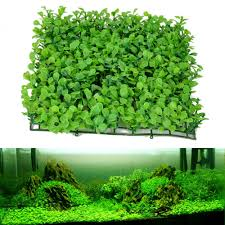 eco friendly aquarium ornaments artificial water plastic green