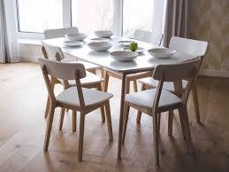 modern white dining chair santos