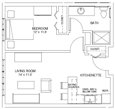 Double Bedroom Independent House Plans One Bedroom House Plans One Bedroom Floorplans Find House