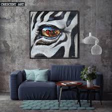 wildlife home decor owl eye animal wall art spray painting canvas oil painting home