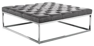 safavieh terrence clay grey leather cocktail ottoman free with
