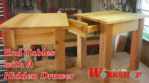 wood end tables with drawers how to build a pair of end tables youtube