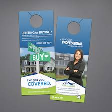 door hanger flyer template real estate door hangers custom templates for keller williams
