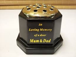 In Loving Memory Vase In Loving Memory Of Mum And Dad Grave Vase Memorial Pot