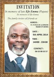 invitation for funeral