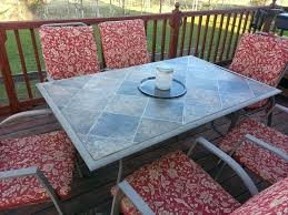 Tiled Patio Table Tile Top Patio Table And Chairs Modern Tiled Outdoor Table Diy