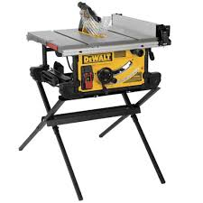 table saw with dado capacity dewalt 15 amp 10 in job site table saw with scissor stand dwe7490x