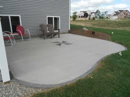 brilliant cement slab patio ideas concrete patio photos design
