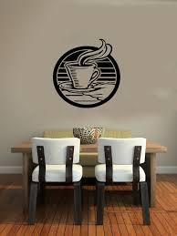 Dining Room Decals Cup Of Coffee Smoke Housewares Wall Vinyl Decal Art Murals Design