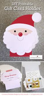 diy printable santa gift card holder ornament