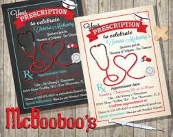 nursing school graduation invitations graduation invitation etsy