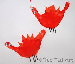 handprint alphabet d is for dinosaur kids hands craft and